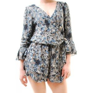 NWT Free People V-Neck Wrap Tie Front Romper SZ S